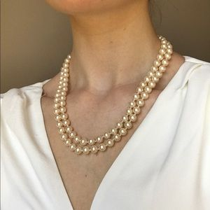 Faux Ivory Pearl Necklace